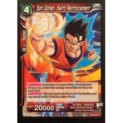 Dragonball TCG Spirit Vanisher BT9-012 C Red Tien Shinhan